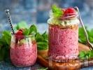 Рецепта Лесен чия пудинг с малини и кокосово мляко